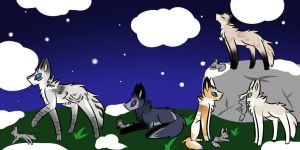 Hunting Coyotes by AbsoluteAries