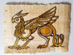 Egyptian Gryphon - on Papyrus by Lizkay