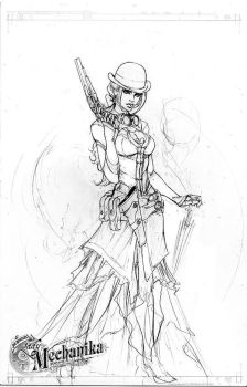 Lady Mechanika concept 1 by joebenitez