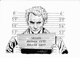 The Dark Knight: Joker's Mug Shot by StevenWilcox