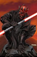 Darth Maul does a Spidey pose by Dan-the-artguy