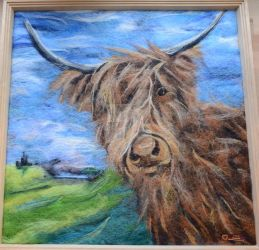 Felted Highland Cow by Frollino