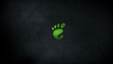 Gnome Dark Wallpaper - Green by malkowitch