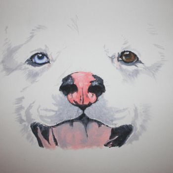 Nanook painting by Soggy-Wolfie