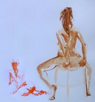 Life drawing - March 2013 by Gizmoatwork