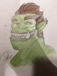 A smiley orc by Phaogan