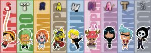Chibi Strawhats bookmarks by AznCeestar