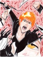 Ichigo vs Aizen (WSJ cover, Bleach 392) by danielcamilo