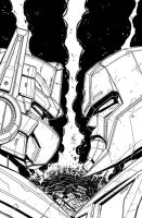 War for Cybertron Cover inks by MarceloMatere