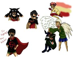 young justice sketches by b-girl13