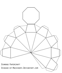 Diamond or Gem Papercraft by Disease-of-Machinery