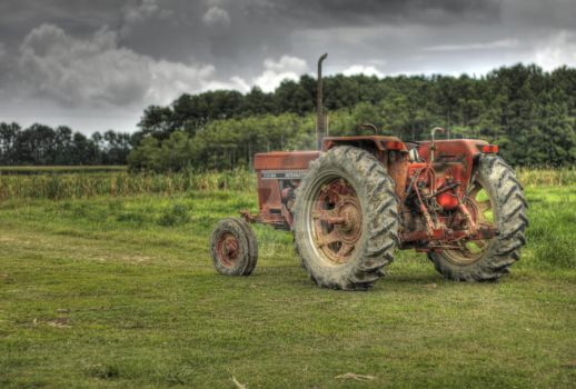 Red Tractor by picturesarelife