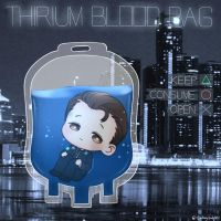 Detroit: Become human - Connor Thirium blood bag by SmilingSatellite