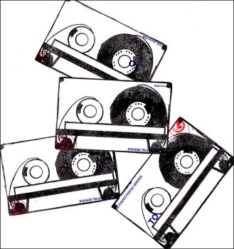 _cassette tape stickers by bleedsopretty