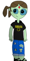 Doctor Princess w/ Nirvana shirt + tattered jeans by jakelsm