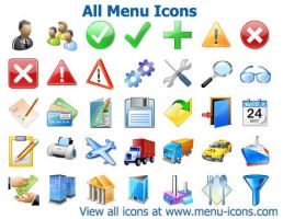 Menu Icons by shockvideo