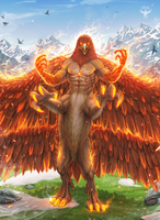 Alicor the Fire Falcon by amorphisss