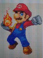 Pixel art Super smash bros: Mario by PaintPixelArt