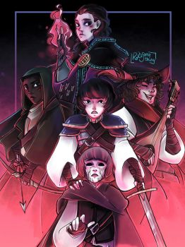 Stranger things + Dungeons and Dragons by RoItsSomething