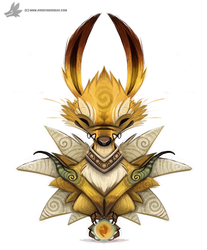 Daily Painting 755. Kanto - 135 - Jolteon by Cryptid-Creations