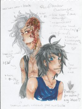 New OCs [Pen and Marker Challenge] by 19Rei-Sama