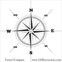 Vector Compass by 123freevectors
