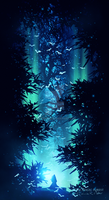 The Spectral forest by Ellysiumn