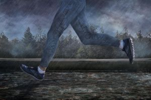 Running from a Rainstorm by BenGrunder