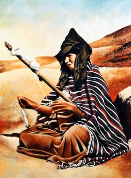 moroccan amazigh woman by hakkach