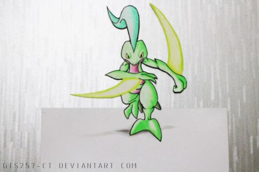 Grovyle Leaf Blade 3D Drawing by GTS257-CT