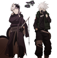 Obito and Kakashi Render by Dragha