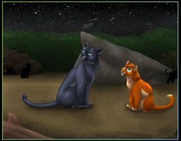bluestar and firepaw by brownwhisker