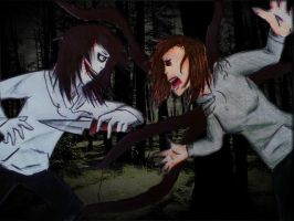 Jeff the Killer Vs Anne the Killer by 6HB