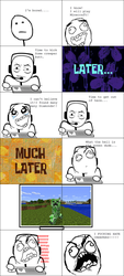 Rage Comic:Noob Plays Minecraft by NikeMan223