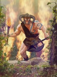 The Barbarian's Challenge by armieri