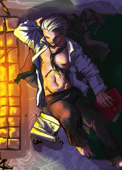 Draco Malfoy hot by the fire by jameson9101322