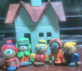 South Park Figures. [NOT FOR SALE] by GummiSeaWind