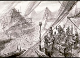 sketch Egyptian empire by neisbeis