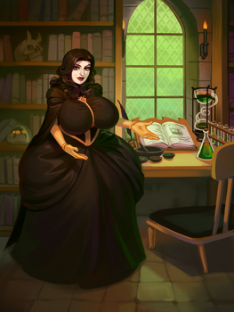 Mage's Study by 0pik-0ort