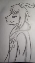 Asriel drawing by Silvy-draws