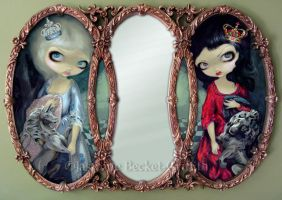 Looking-Glass Queens by jasminetoad