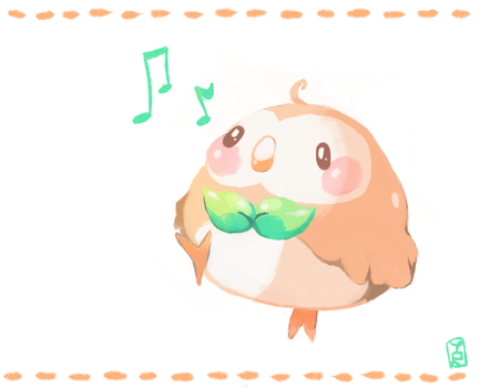 Rowlet by Teatime-Rabbit