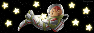 Space Otter by sleepyotter