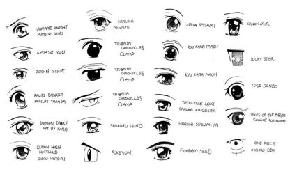 Anime and Manga Eyestyles by Joichiroll