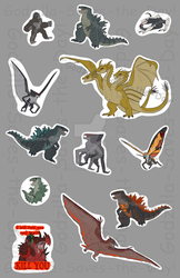 Monsterverse Stickerset (OUTDATED VERSION) by RoFlo-Felorez