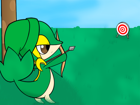 Link Snivy: Bow and Arrow by PokeHihi