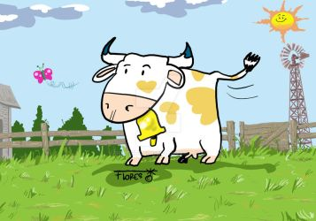 Cow at the farm by Roberto67
