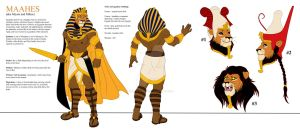 Character Design for Maahes by Leo-Featherstone