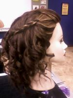 hair style i did - curls braid by seductivemistresss