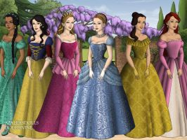 The Tudors: Disney Princesses by moonprincess22